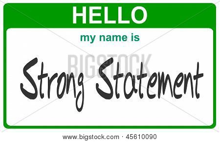 Name Strong Statement