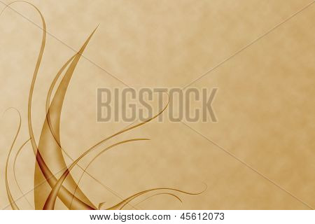 abstract with wavy and curve yellow background poster