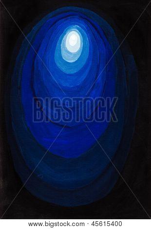 Concentric Blue Light Gradient