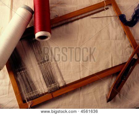 Manual Loom For Weaving.