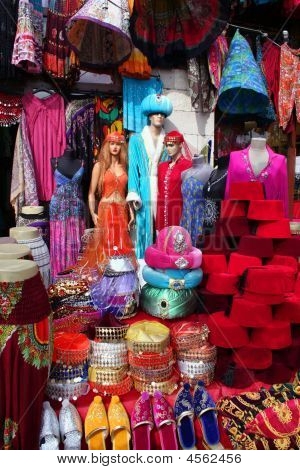 Traditional Slippers, Fez And Caftan