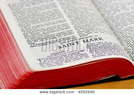Bible Page - Saint Mark