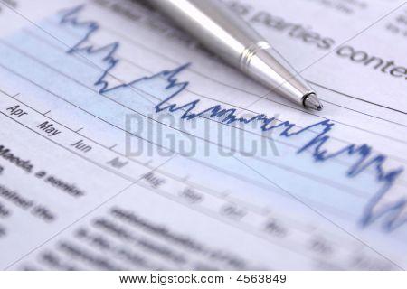 Pen On Business Chart