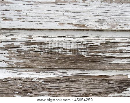 Old White Painted Chipped Wood