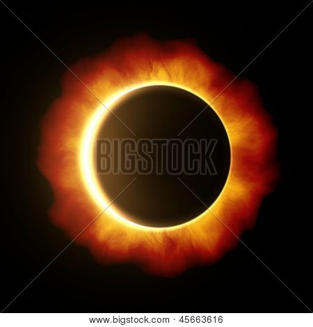 An image of a beautiful sun eclipse