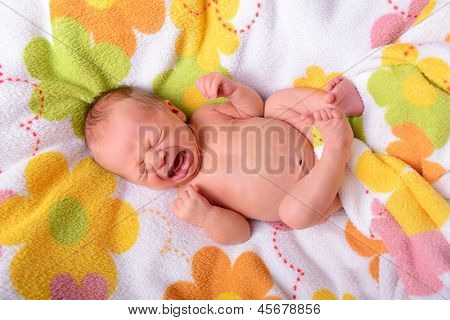 crying and screaming newborn baby