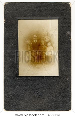 Late 1800's Embossed Frame And Photo