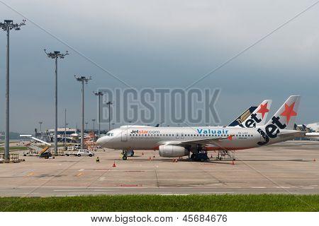 Jetstar Airways Planes In The Airport