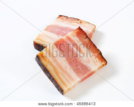 two thick piece of bacon poster