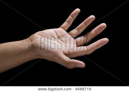 Hand On Black