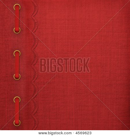 Cover For Album With Gold Clip And Braid