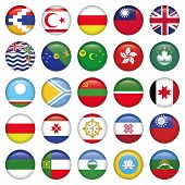 Asiatic Round Glossy icon Flags. Asia button style flags, poster