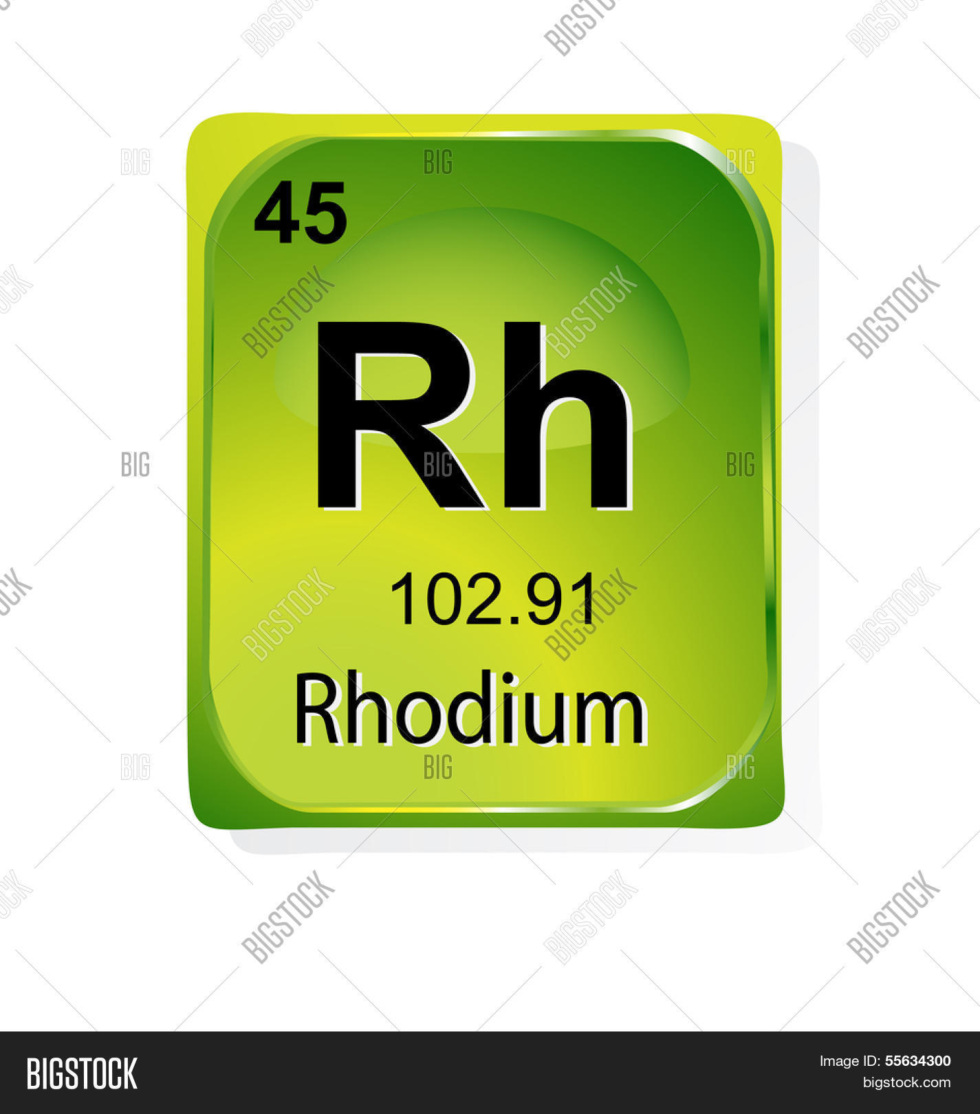 Rhodium Chemical Vector Photo Free Trial Bigstock
