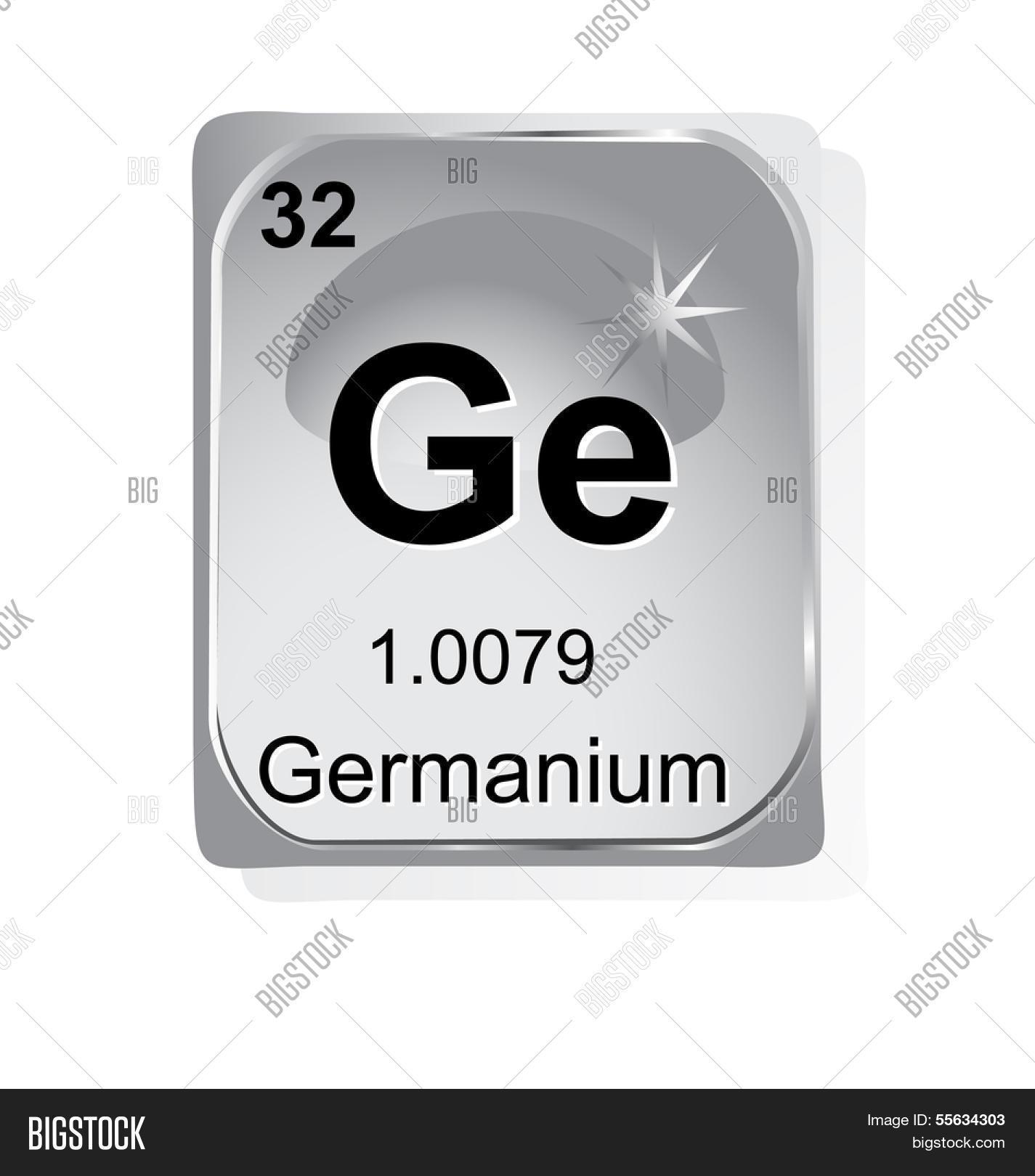 Germanium Chemical Element Atomic Vector Photo Bigstock