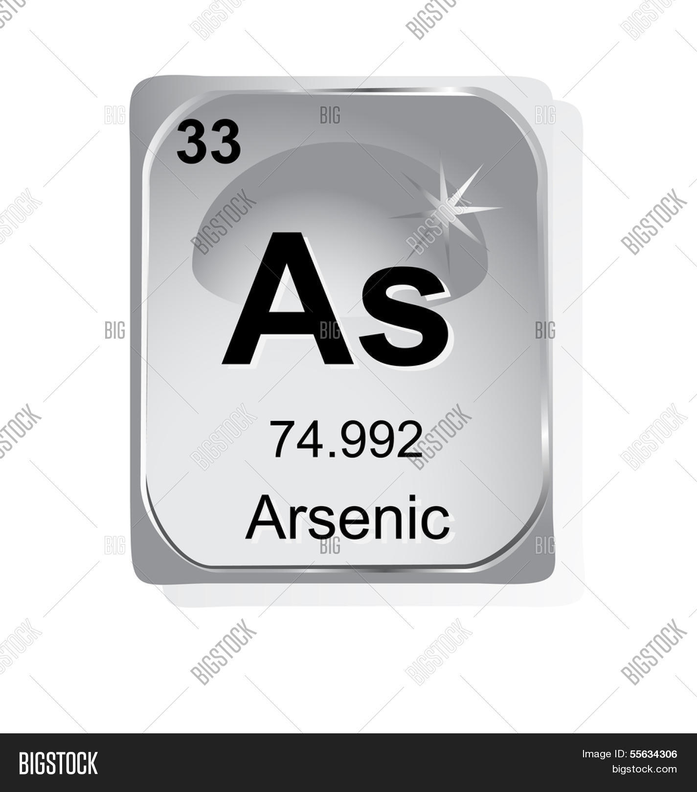 Arsenic chemical element atomic vector photo bigstock arsenic chemical element with atomic number symbol and weight biocorpaavc Image collections