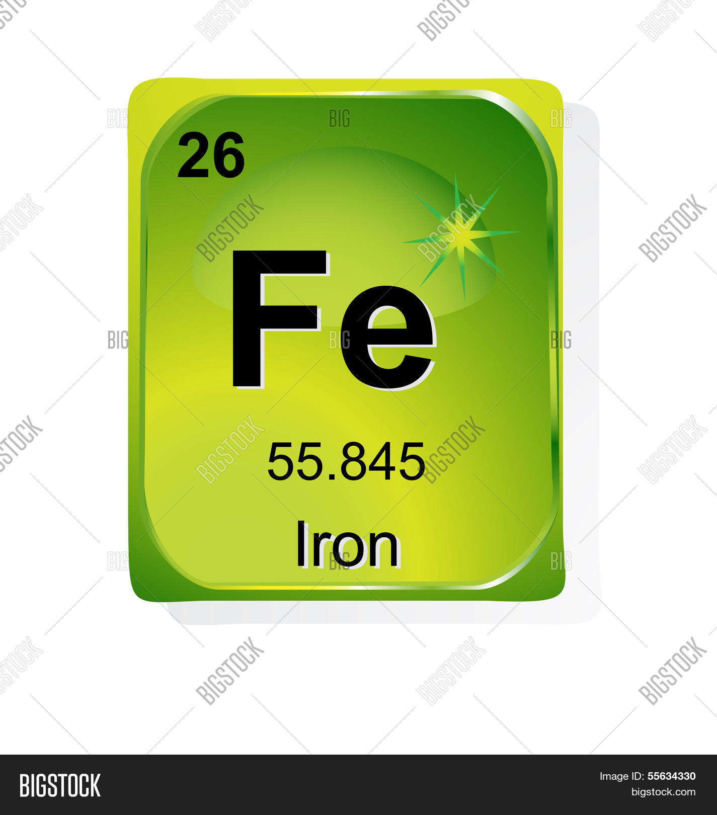 Iron Chemical Element Vector Photo Free Trial Bigstock