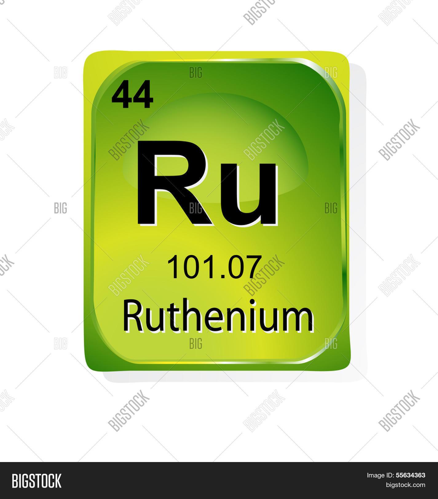 Ruthenium Chemical Element Atomic Vector Photo Bigstock