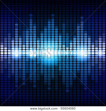 Blue and purple digital equalizer background