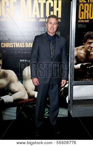 """NEW YORK-DEC 16: Director Pete Segal attends the world premiere of """"Grudge Match"""" at the Ziegfeld Theatre on December 16, 2013 in New York City."""