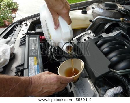 Adding Oil To A Car