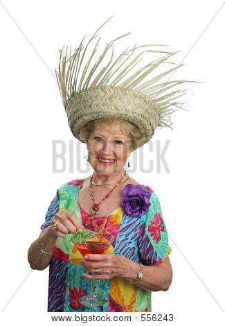 Senior Lady On Vacation
