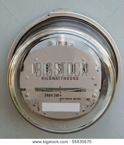 elektrische Stromversorgung Meter Meter Glas