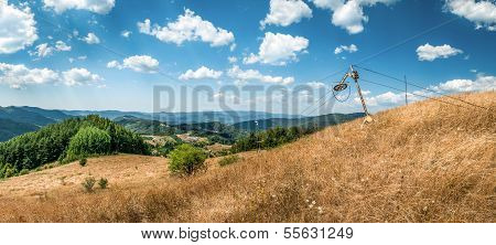 Landscape, View From Baniste Towards Stiabnicke Vrchy With An Old Ski Lift