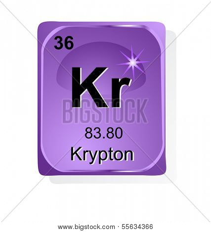 Krypton Chemical Vector Photo Free Trial Bigstock