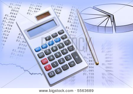 Calculator Pen And Charts
