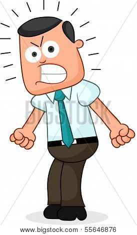 Businessman Angry