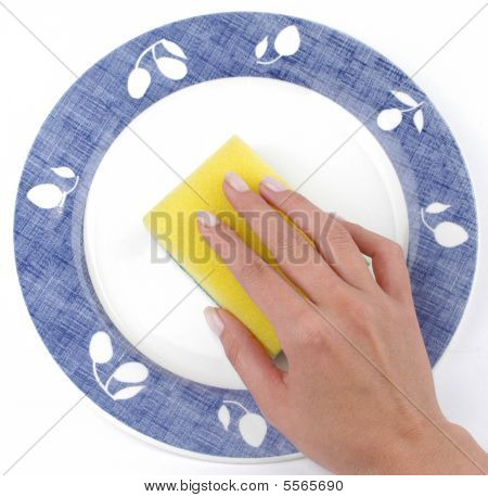 Cleaning dish