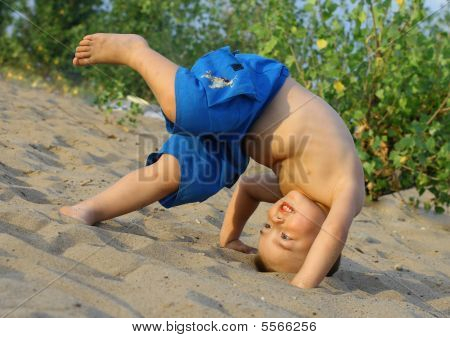 The Boy Somersaults