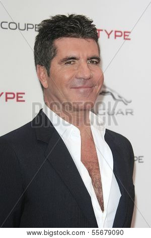 LOS ANGELES - NOV 19: Simon Cowell at the Jaguar F-TYPE Coupe launch party at Raleigh Studios on November 19, 2013 in Playa Vista, California