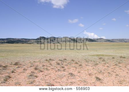 High Plains Between Colorado And Wyoming