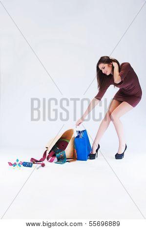 Girl Pulls Bag