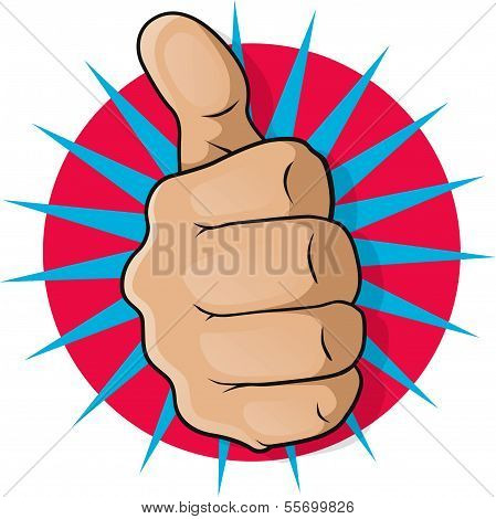 Vintage Pop Art Thumbs Up.
