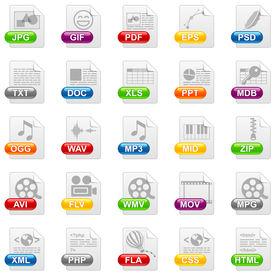Icônes de fichier