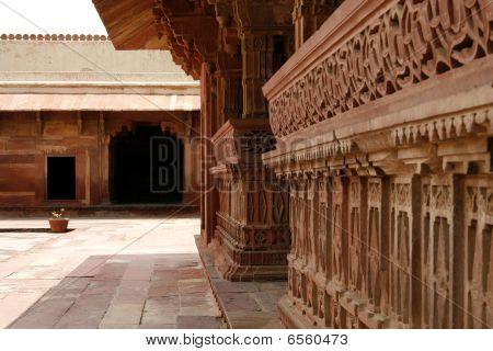 Temple Yard In Fatehpur Sikri Temple Complex, Rajasthan, India