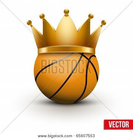 Basketball Ball With Royal Crown