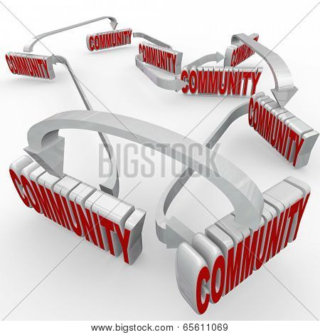 Many communities linked together society peaceful coexistence