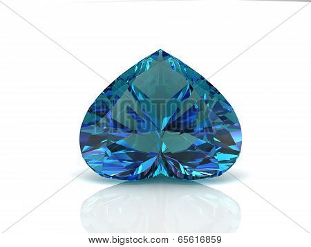 Alexandrite On White Background With High Quality
