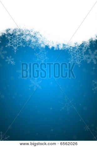 A Horizontal Snowflake Background Containing Space For Text
