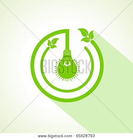 eco bulb with and leaf