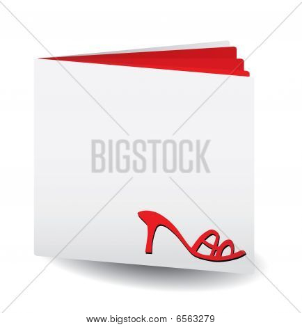 Red catalog of women's shoes