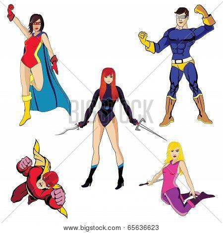 Superheroes vector #2