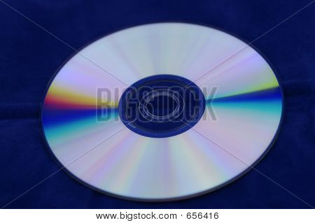 Blank DVD  Blue Background
