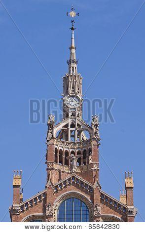 Tower Clock Of The Sant Pau Hospital, Barcelona