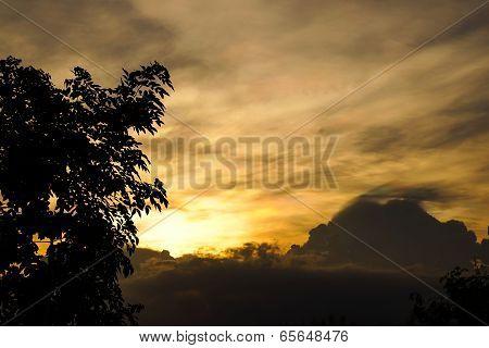 Rare Multi-color Clouds Silhouette