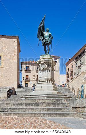 Segovia. Monument Knight Juan Bravo