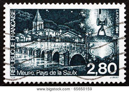 Postage Stamp France 1994 Saulx River Bridge